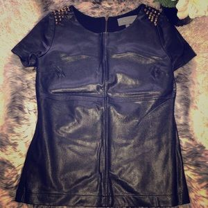 Tops - Leather top